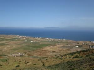 15 Blick auf die Nordseite von Santorin