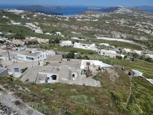 70 Pyrgos Blick über Santorin