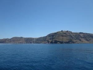 18 Fahrt durch den Krater Santorin