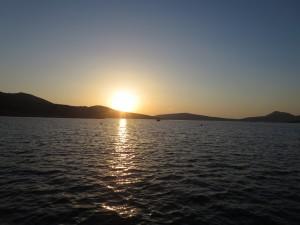 21 Leros Sonnenuntergang in der Partheni Bucht