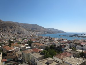 36 Kalymnos Blick über die Hafenstadt