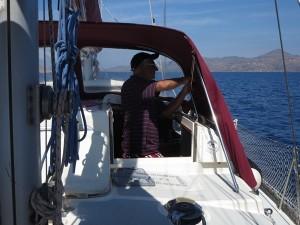 37 Ueberfahrt nach Aigina kleine Reparatur