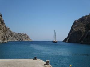 42 Kalymnos eine gigantische Bucht  die Vathi Bucht