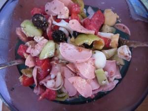 griechischer Wurstsalat