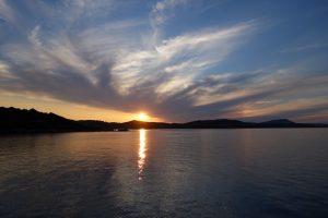 044 Sonnenuntergang in der Ankerbucht bei Olbia