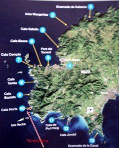 75  zurück nach Ibiza  Cala d`Horts