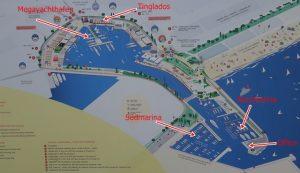 110 Überblick über die Marina Juan Carlo I